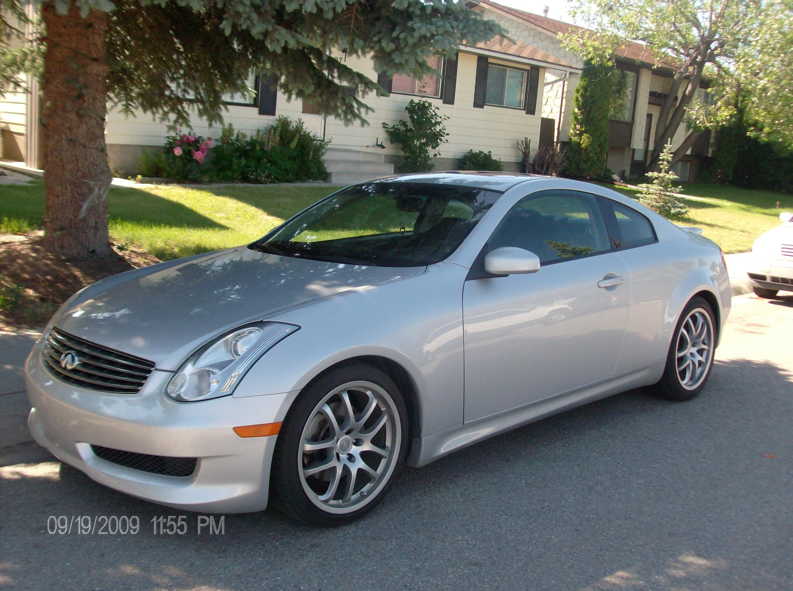 g silver 2006 infiniti gg35 coupe 2d specs photos modification info at cardomain. Black Bedroom Furniture Sets. Home Design Ideas