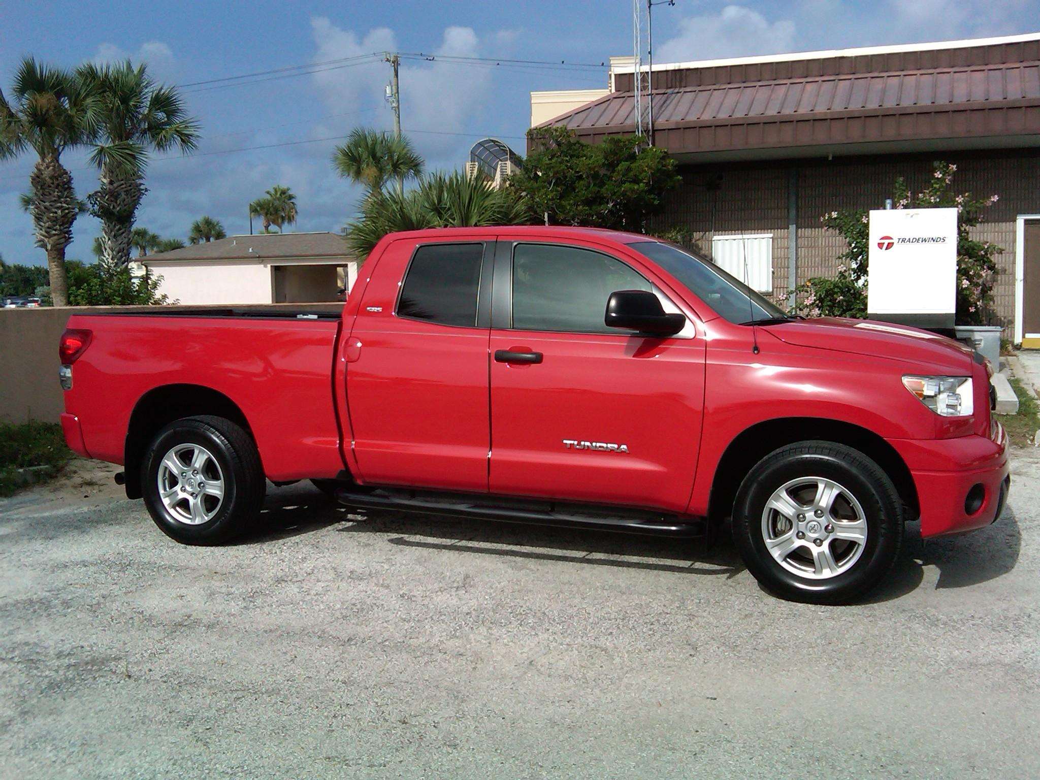 Tansnout 2007 Red Toyota Tundra Access Cab post... - 16829087