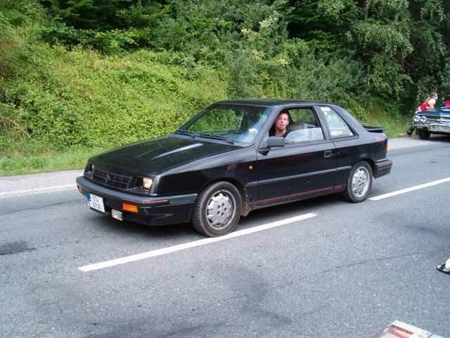 I.) Chrysler ES Turbo, model 1988. It's european version of Dodge Shadow ES