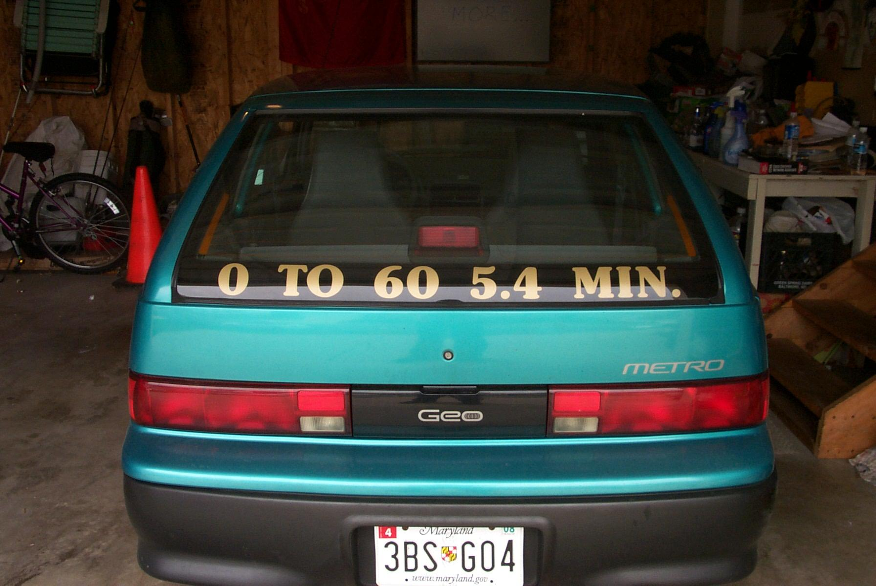 1994 Geo Metro Mrspikes39s Profile In Thurmont Md Cardomaincom