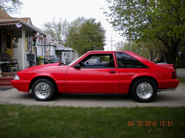 91redbeast 1991 ford mustanglx 5 0 liter hatchback 2d specs photos modification info at cardomain. Black Bedroom Furniture Sets. Home Design Ideas