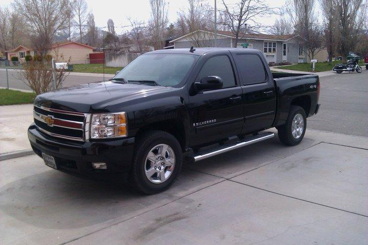 blkex 2009 chevrolet silverado 1500 crew cabltz pickup 4d. Black Bedroom Furniture Sets. Home Design Ideas