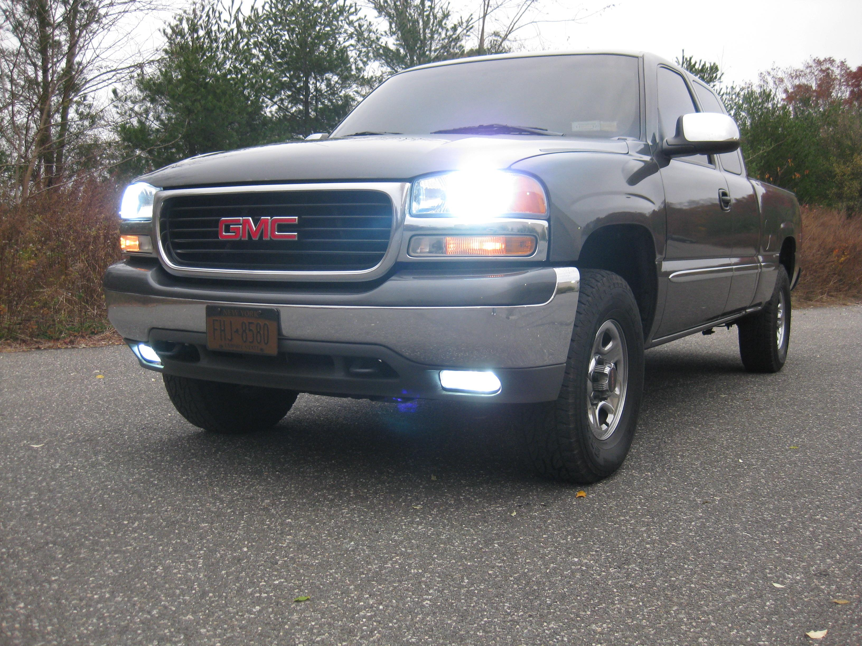 sierra lights for w pin yukon halo headlights bumper denali projector led gmc