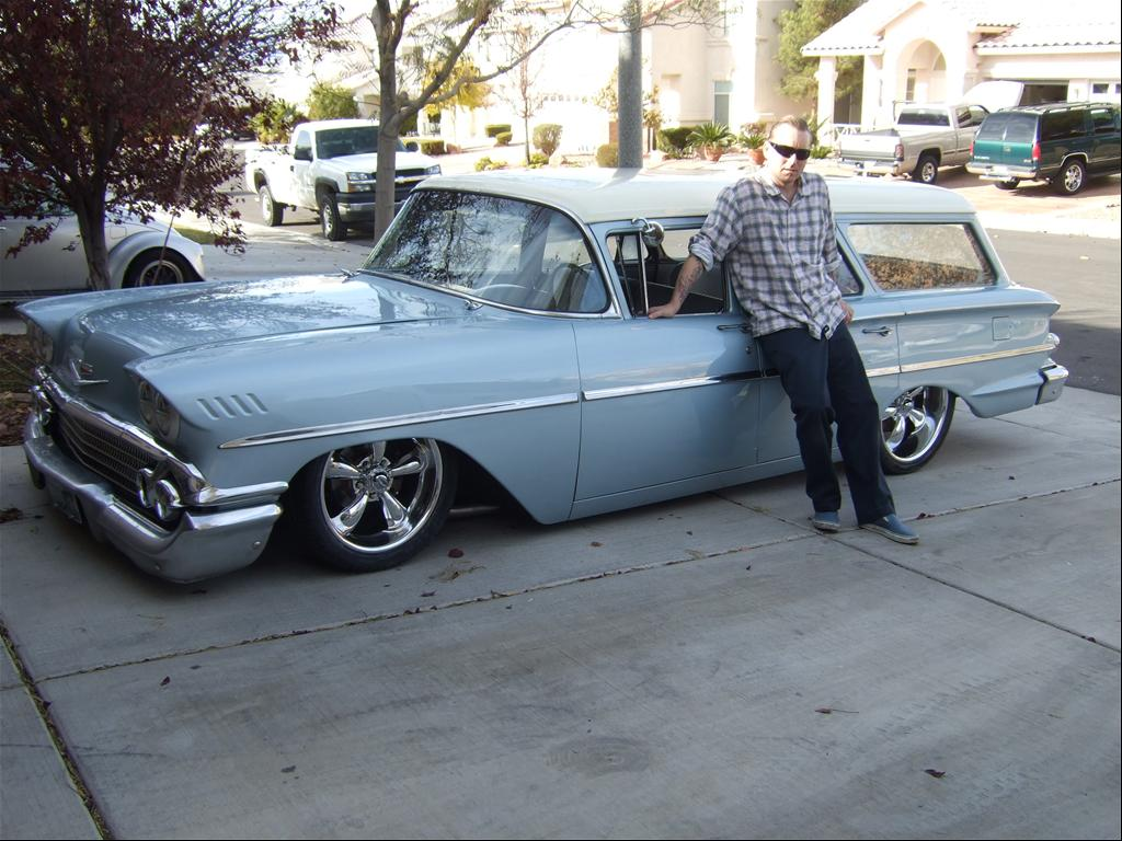 lowered chevy nomad