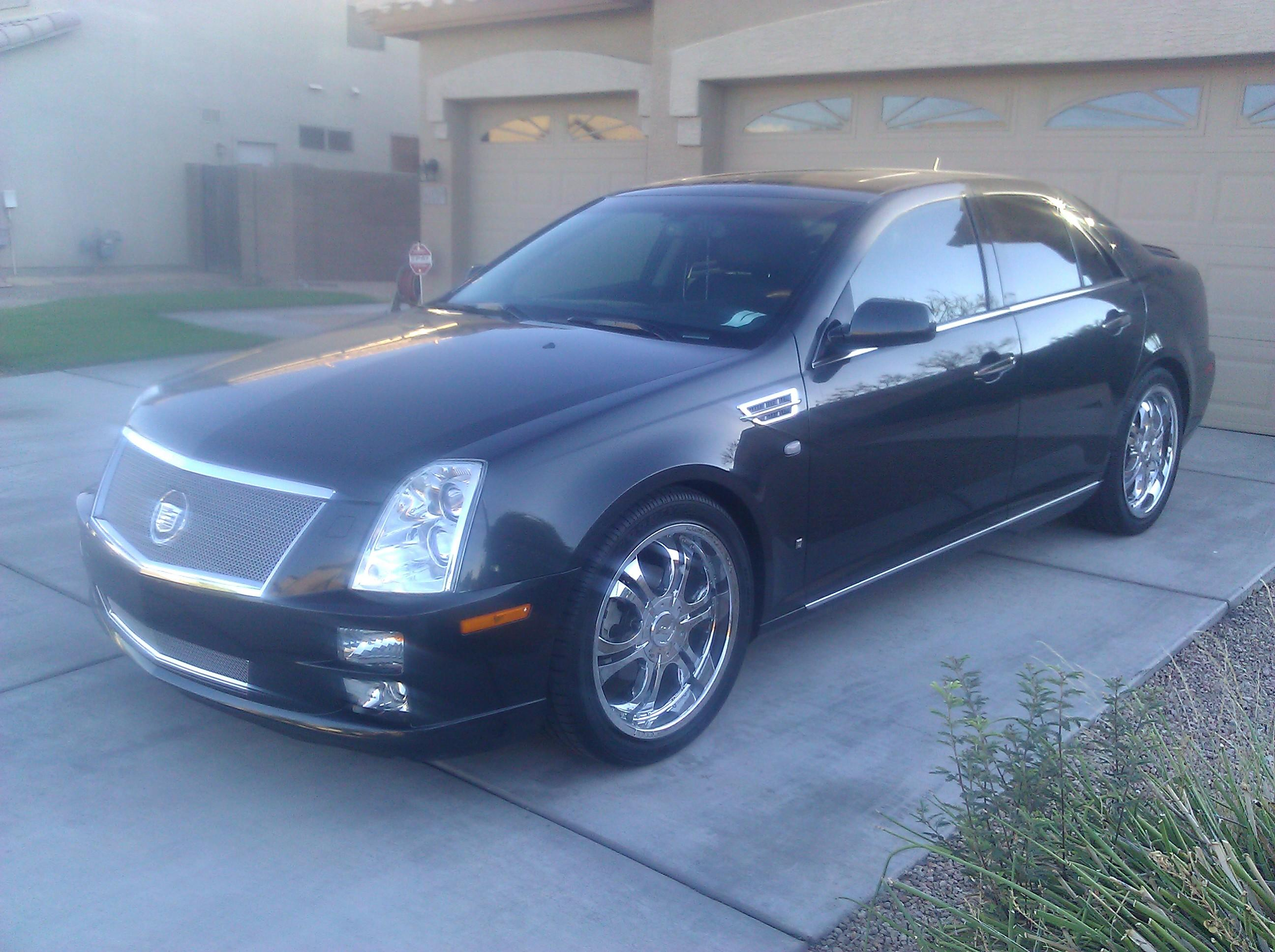 caddystatus  cadillac stssedan  specs  modification info  cardomain