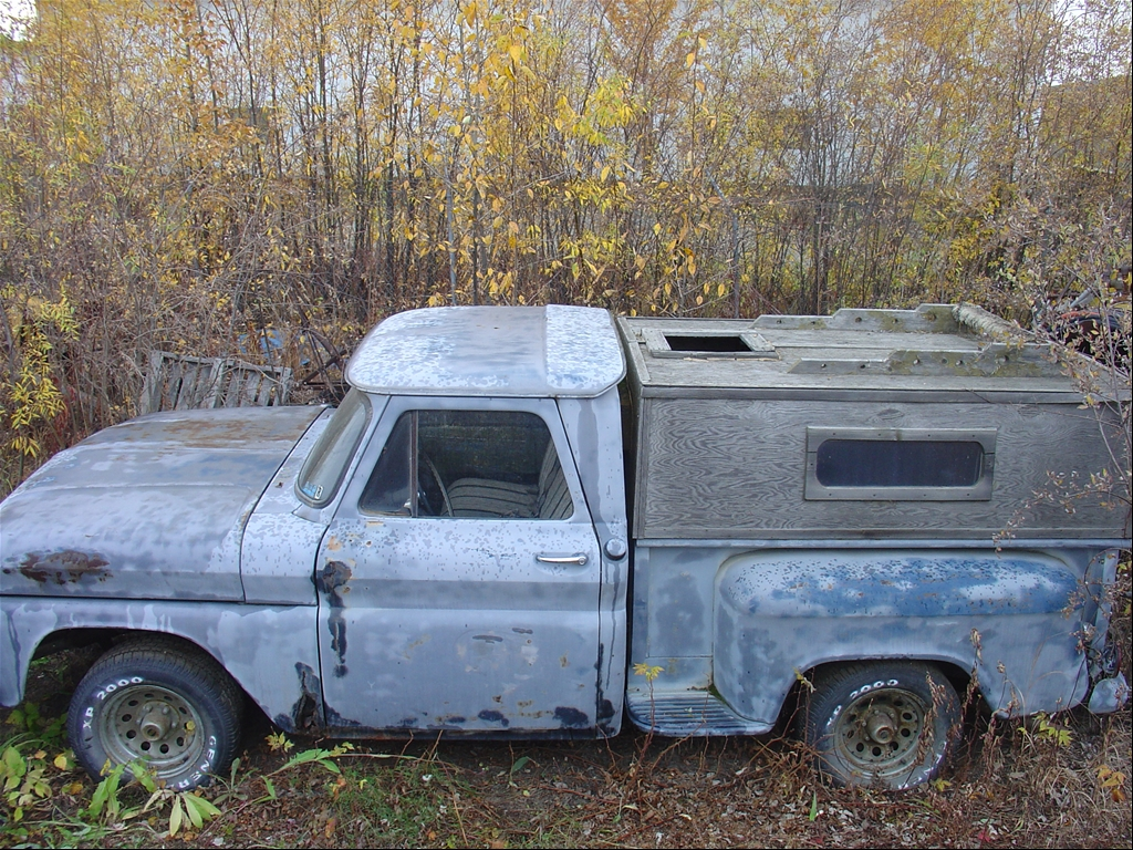 Homemade Camper Shell http://www.cardomain.com/ride/3938455/1966-chevrolet-apache/