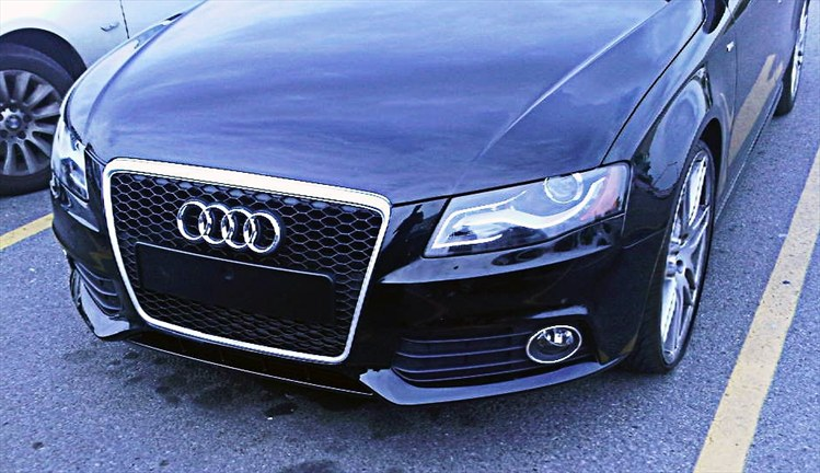 rs5 grill installation on audi a4 b8. Black Bedroom Furniture Sets. Home Design Ideas